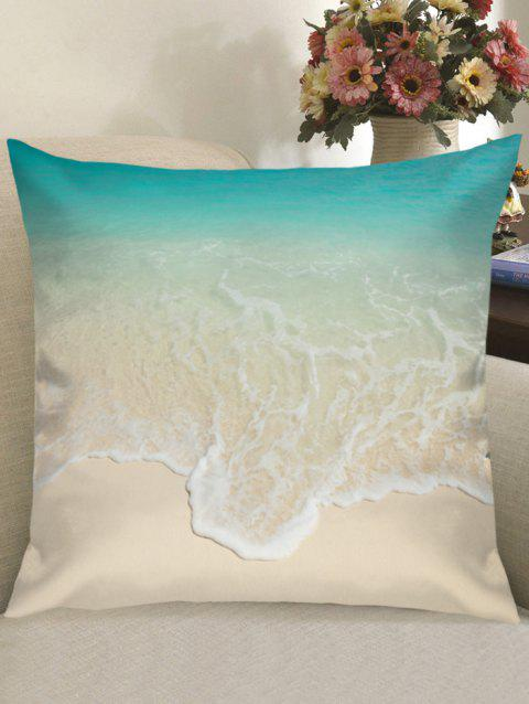 Beach Wave Print Linen Pillowcase - COLORMIX W18 INCH * L18 INCH