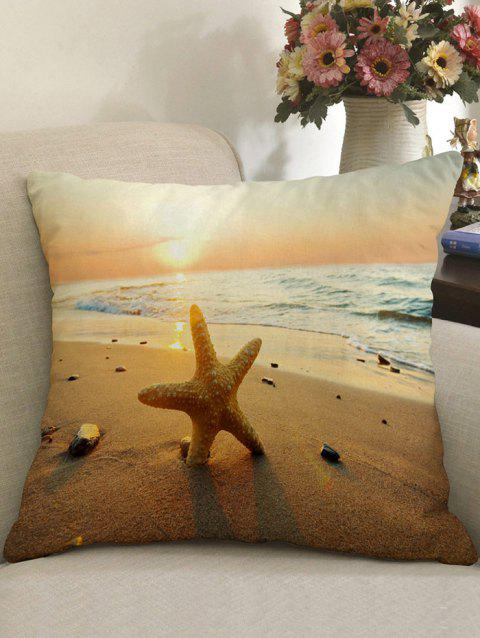 Sunset Beach Print Linen Pillowcase - COLORMIX W18 INCH * L18 INCH