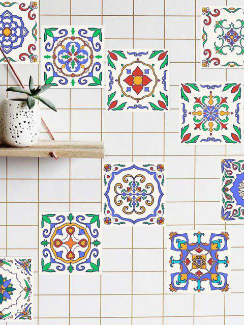 Patterned Waterproof Kitchen Tile Stickers - BLUE 4*4 INCH