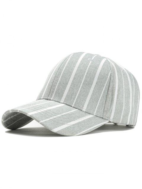 Stripe Pattern Adjustable Sunscreen Hat - LIGHT GRAY
