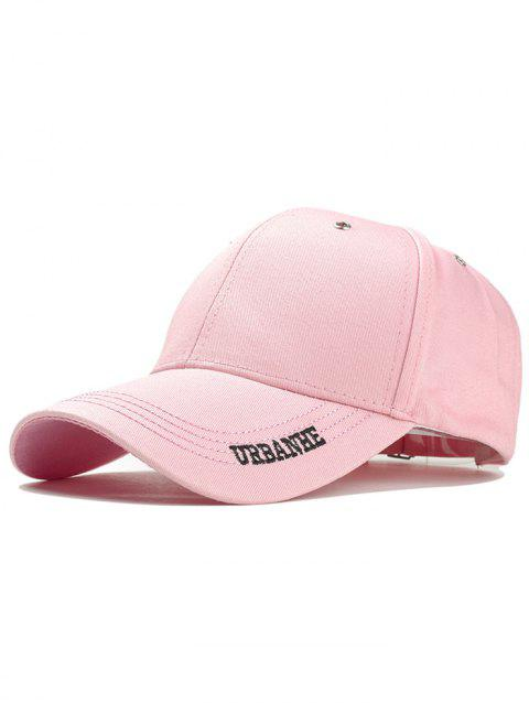 Letter Embroidery Adjustable Sport Hat - PINK