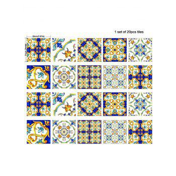 Vintage Waterproof Kitchen Tile Stickers - COLORMIX 8*8 INCH