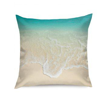 Beach Wave Print Linen Sofa Pillowcase - COLORMIX W18 INCH * L18 INCH