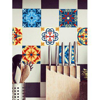 Traditional Patterned Bathroom Tile Stickers - COLORFUL 6*6 INCH