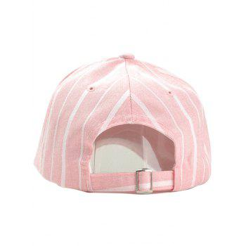 Stripe Pattern Adjustable Sunscreen Hat - PINK