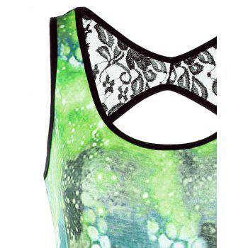 Octopus 3D Print Open Back Bodycon Dress - GREEN L