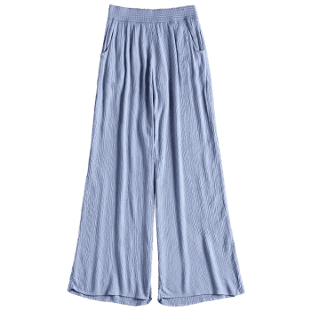 Crinkly Cover Up Palazzo Pants - BLUE M