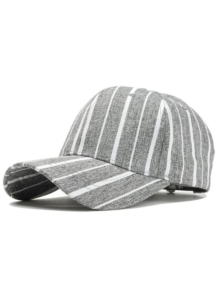 Stripe Pattern Adjustable Sunscreen Hat - DEEP GRAY