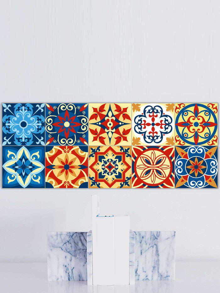 Traditional Patterned Bathroom Tile Stickers - COLORFUL 8*8 INCH