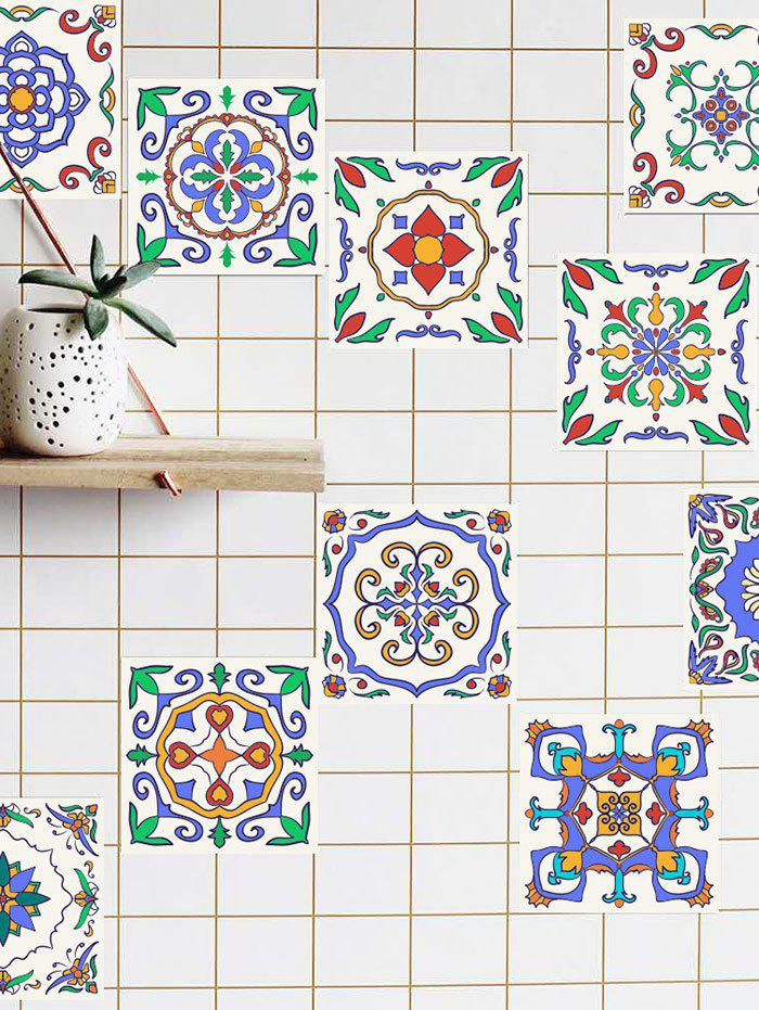 Patterned Waterproof Kitchen Tile Stickers - BLUE 6*6 INCH