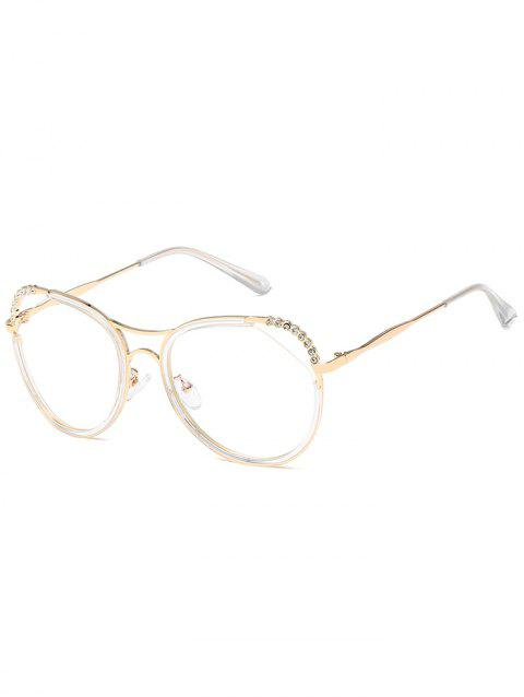 Anti-Fatigue Rhinestone Inlaid Hollow Out Sunglasses - GOLDEN