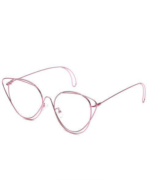 Anti UV Hollow Out Oval Sunglasses - PINK