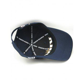 Crown Embroidery Adjustable Snapback Hat - ROYAL