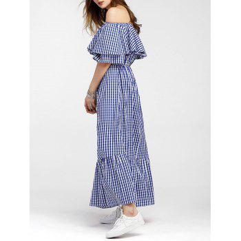 Off The Tearan Maxi Dress - Bleu L