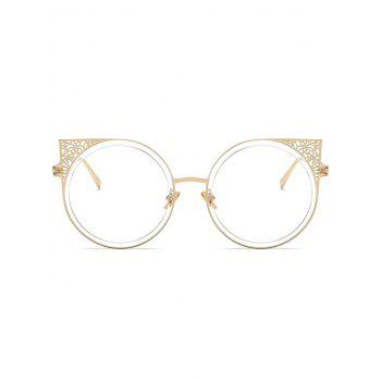 Metal Hollow Out Frame Round Sunglasses - GOLD