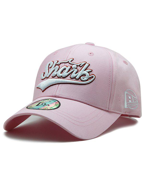 Unique Letter Embroidery Graphic Hat - PINK
