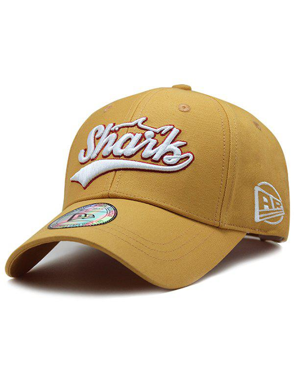 Unique Letter Embroidery Graphic Hat - YELLOW