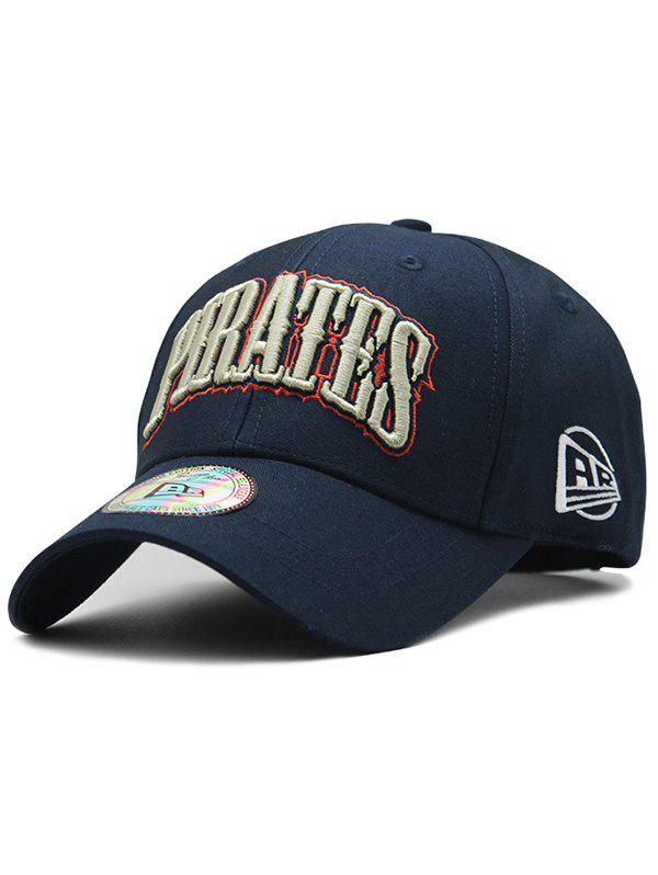 Letter Embroidery Spring Summer Hat - DEEP BLUE