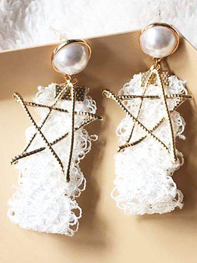 Vintage Faux Pearl Star Earrings asus rog swift pg278q