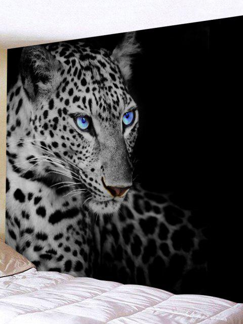 Resting Leopard Print Tapestry Wall Hanging Art Decoration - BLACK W79 INCH * L71 INCH