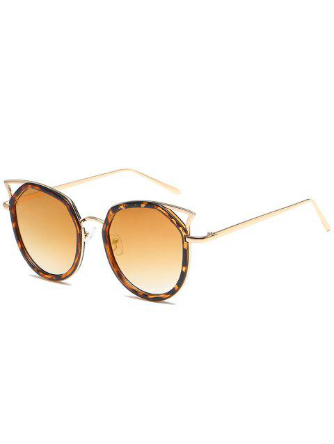 Anti Fatigue Metal Full Frame Hollow Out Sunglasses - GOLDEN/LUXURY GOLD COLOR