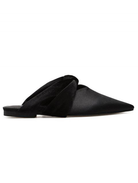 Twist Upper Flats en satin - Noir 35