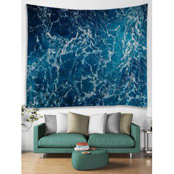 Sea Spray Printed Hanging Wall Art Tapestry - OCEAN BLUE W79 INCH * L59 INCH