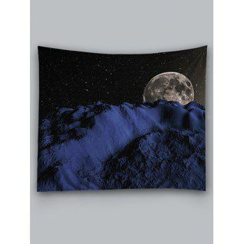 Night Sky Earth Pattern Decorative Wall Tapestry - BLACK W59 INCH * L51 INCH