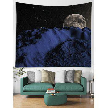 Night Sky Earth Pattern Decorative Wall Tapestry - BLACK W59 INCH * L59 INCH