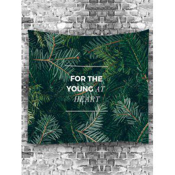 Pine Needle Letter Pattern Decorative Removable Wall Tapestry - DARK FOREST GREEN W59 INCH * L51 INCH
