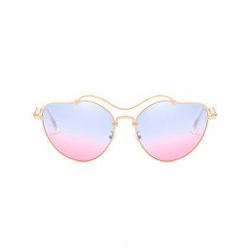 Anti UV Irregular Heart Shaped Sunglasses - BLUE PINK