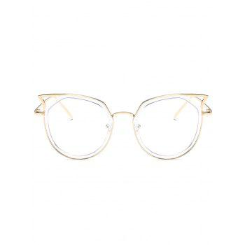 Anti Fatigue Metal Full Frame Hollow Out Sunglasses - GOLDEN