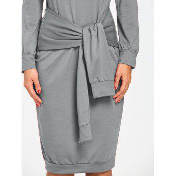Robe de Sweat-shirt à taille haute - gris XL