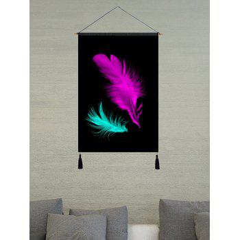 Two Features Printed Tassel Hanging Painting Wall Art - BLACK 1PC:18*26 INCH(NO FRAME)