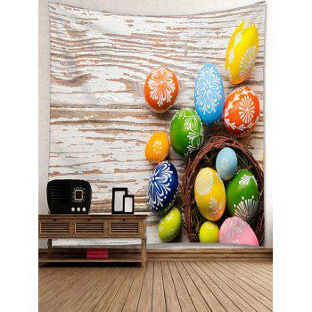 Colorful Egg Shaped Stones Printed Tapestry Wall Art - multicolor W91 INCH * L71 INCH