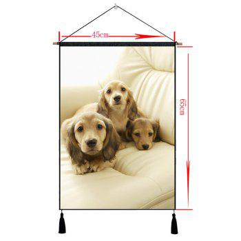 Golden Retriever Pattern Painting - CAMEL BROWN 1PC:18*26 INCH(NO FRAME)