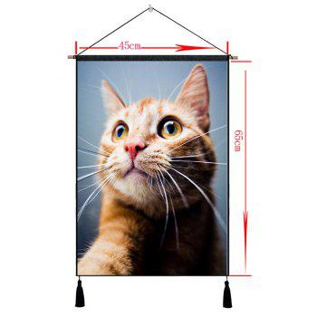 Tassel Decor Cat Patterned Tenture murale peinture - [