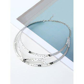 Simple Geometric Necklace - SILVER