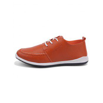 Artificail Leather Stitch Toe Casual Shoes - BROWN 44