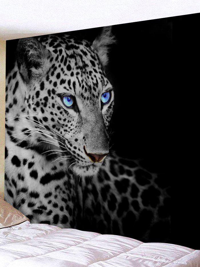 Resting Leopard Print Tapestry Wall Hanging Art Decoration - BLACK W79 INCH * L59 INCH