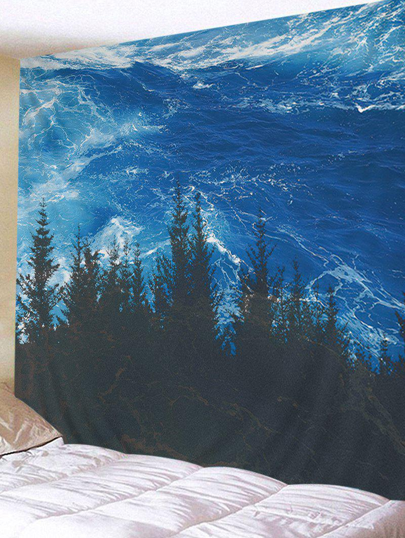 Ocean Wood Pattern Decorative Wall Tapestry - OCEAN BLUE W59 INCH * L59 INCH
