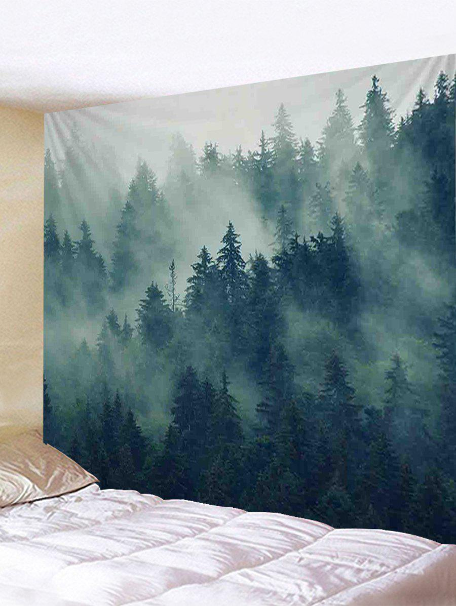 Morning Mist Forest Print Tapestry Wall Hanging Decor дефлекторы окон autoclover hyundai sonata nf 4 2005 корея комплект 4шт a081