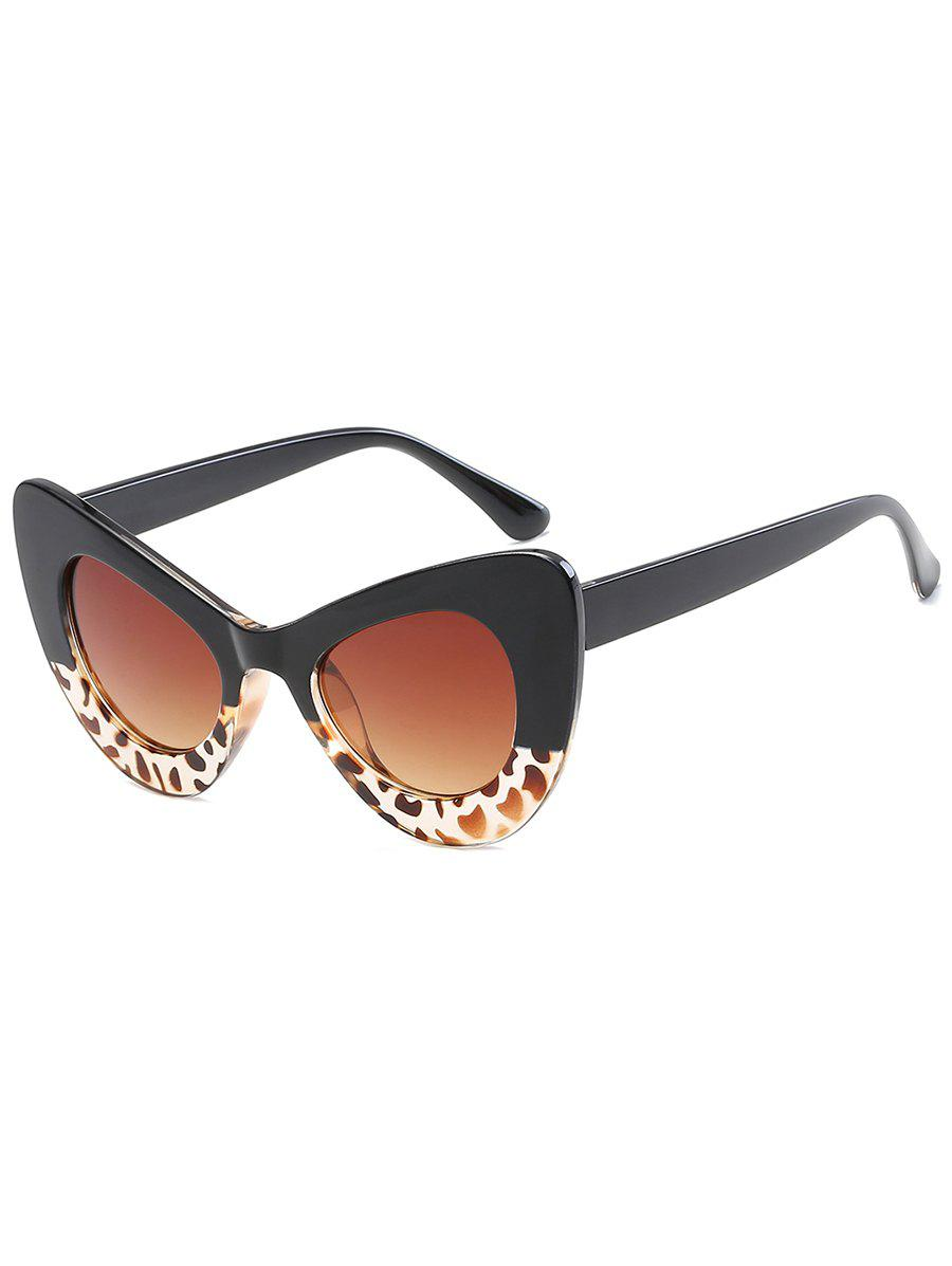 Stylish Full Frame Sun Shades Driver Sunglasses - LEOPARD/DARK BROWN