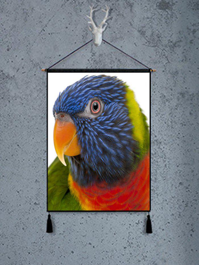 Parrot Pattern Wall Decor Peinture - multicolor 1PC:18*26 INCH(NO FRAME)