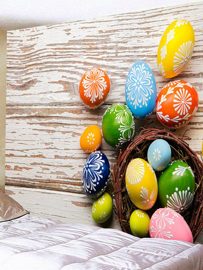 Colorful Egg Shaped Stones Printed Tapestry Wall Art - multicolor W79 INCH * L59 INCH