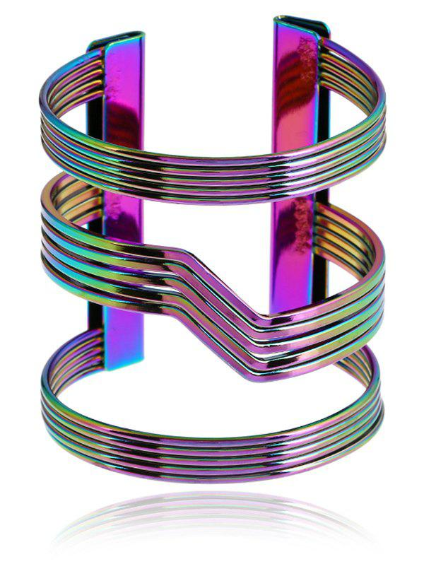 Metal Simple Cuff Bracelet - COLORMIX