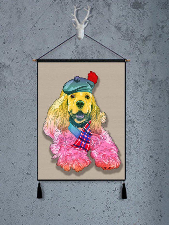 Dog Pattern Tassel Hanging Painting Wall Decoration - multicolor 1PC:18*26 INCH(NO FRAME)