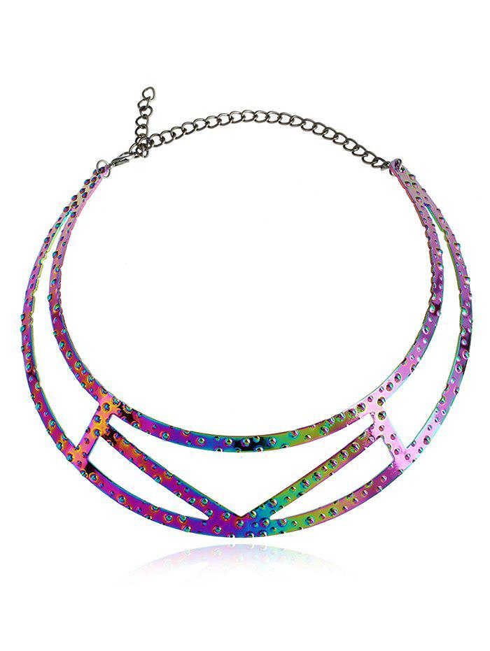 Collier Motif Géométrique Simple - multicolore