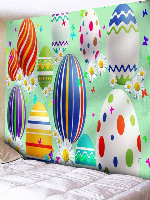 Cartoon Easter Egg Print Wall Art Tapestry - multicolor W79 INCH * L71 INCH