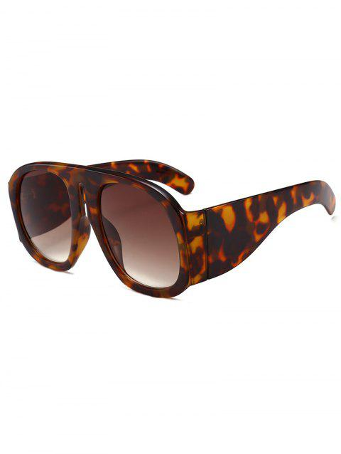 Vintage Oversized Thick Frame Sun Shades Sunglasses - LEOPARD/DARK BROWN